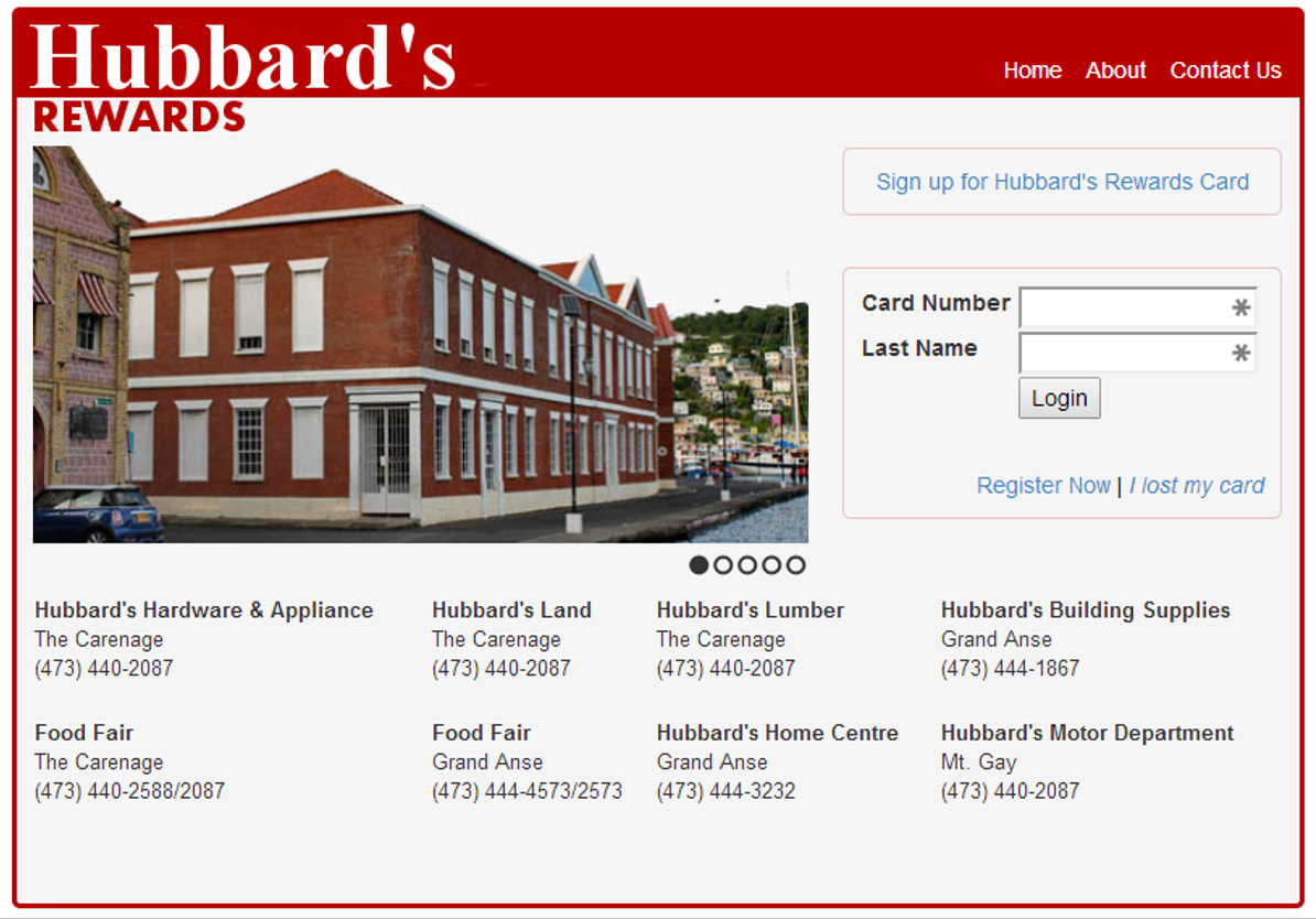 Hubbard's Rewards Card Portal